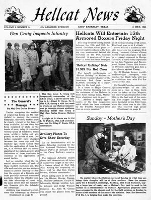 Primary view of object titled 'Hellcat News, Vol. 2, No. 14, Ed. 1, May 11, 1944'.