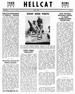 Primary view of object titled 'Hellcat News, (Detroit, Mich.), Vol. 15, No. 9, Ed. 1, May 1961'.