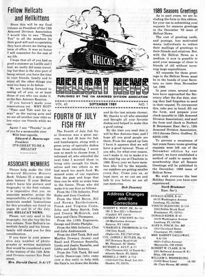 Primary view of object titled 'Hellcat News, (Godfrey, Ill.), Vol., No., Ed. 1, September 1989'.