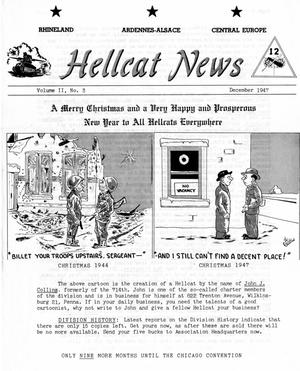 Primary view of object titled 'Hellcat News, (Wilmington, Del.), Vol. 2, No. 3, Ed. 1, December 1947'.