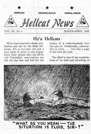 Primary view of object titled 'Hellcat News, (Wilkinsburg, Pa.), Vol. 3, No. 4, Ed. 1, March/April 1949'.