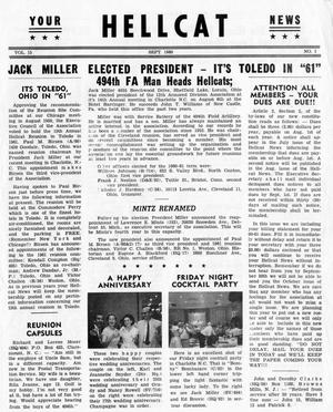 Primary view of object titled 'Hellcat News, (Detroit, Mich.), Vol. 15, No. 1, Ed. 1, September 1960'.