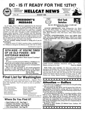 Primary view of object titled 'Hellcat News, (Kingman, Ariz.), Vol. 49, No. 12, Ed. 1, August 1996'.