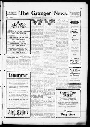 Primary view of object titled 'The Granger News. (Granger, Tex.), Vol. 32, No. 08, Ed. 1 Thursday, January 27, 1927'.