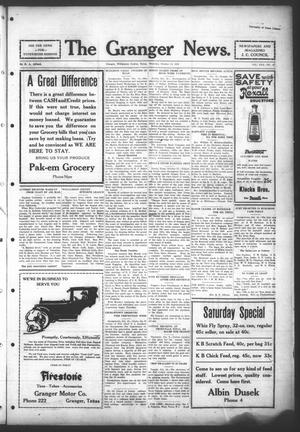 Primary view of object titled 'The Granger News. (Granger, Tex.), Vol. 30, No. 47, Ed. 1 Thursday, October 15, 1925'.
