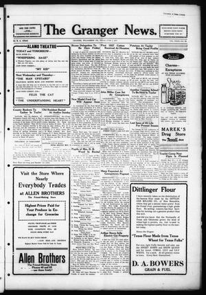 Primary view of object titled 'The Granger News. (Granger, Tex.), Vol. 32, No. 26, Ed. 1 Thursday, June 2, 1927'.