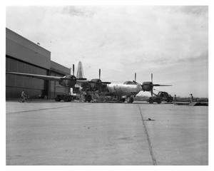Primary view of object titled 'B-32 Aircraft outside of the Assembly Line.'.