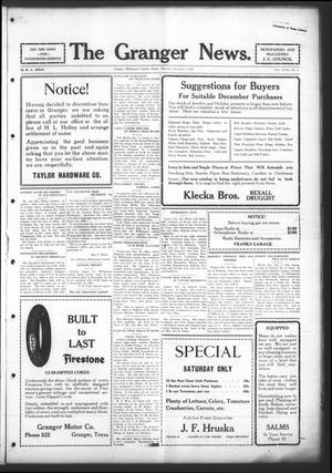 Primary view of object titled 'The Granger News. (Granger, Tex.), Vol. 31, No. 02, Ed. 1 Thursday, December 3, 1925'.