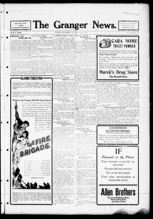 Primary view of object titled 'The Granger News. (Granger, Tex.), Vol. 32, No. 31, Ed. 1 Thursday, July 7, 1927'.