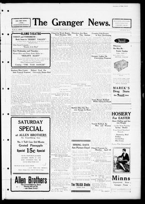 Primary view of object titled 'The Granger News. (Granger, Tex.), Vol. 32, No. [19], Ed. 1 Thursday, April 14, 1927'.