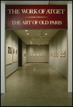 Primary view of object titled 'The Work of Atget: The Art of Old Paris [Exhibition Photographs]'.