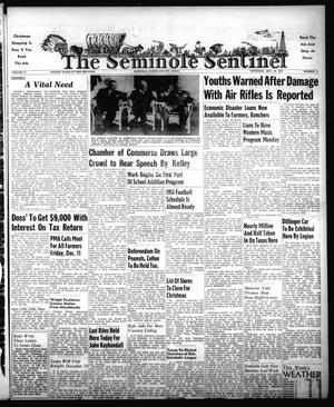 Primary view of object titled 'The Seminole Sentinel (Seminole, Tex.), Vol. 47, No. 02, Ed. 1 Thursday, December 10, 1953'.