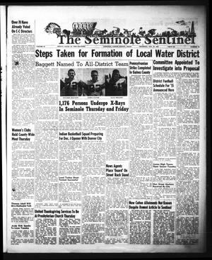Primary view of object titled 'The Seminole Sentinel (Seminole, Tex.), Vol. 47, No. 52, Ed. 1 Thursday, November 25, 1954'.