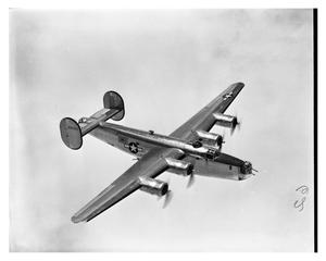 Primary view of object titled '[B-24 Liberator Bomber in Flight]'.