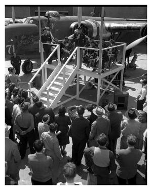 Primary view of object titled '[Major Ralph P. Thompson During a Visit to Convair's Fort Worth Plant]'.