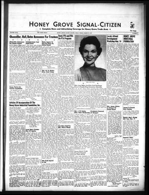Primary view of object titled 'Honey Grove Signal-Citizen (Honey Grove, Tex.), Vol. 67, No. 11, Ed. 1 Friday, March 22, 1957'.