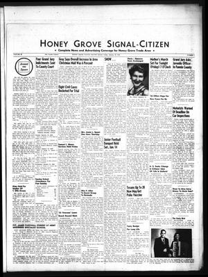 Primary view of object titled 'Honey Grove Signal-Citizen (Honey Grove, Tex.), Vol. 66, No. 1, Ed. 1 Friday, January 20, 1956'.