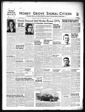 Primary view of object titled 'Honey Grove Signal-Citizen (Honey Grove, Tex.), Vol. 67, No. 43, Ed. 1 Friday, November 1, 1957'.