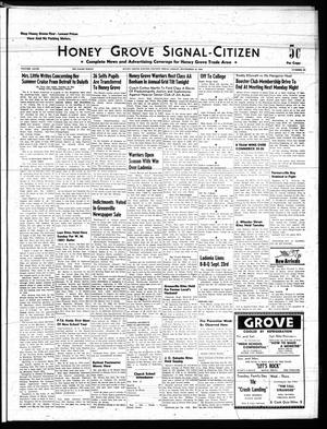 Primary view of object titled 'Honey Grove Signal-Citizen (Honey Grove, Tex.), Vol. 68, No. 37, Ed. 1 Friday, September 19, 1958'.