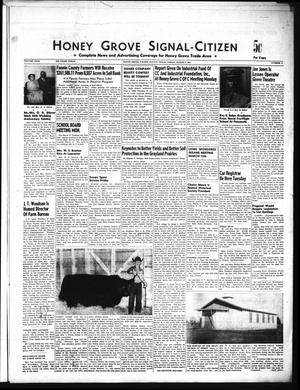 Primary view of object titled 'Honey Grove Signal-Citizen (Honey Grove, Tex.), Vol. 67, No. 9, Ed. 1 Friday, March 8, 1957'.