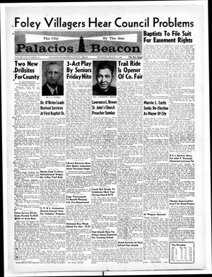 Primary view of object titled 'Palacios Beacon (Palacios, Tex.), Vol. 57, No. 10, Ed. 1 Thursday, March 5, 1964'.