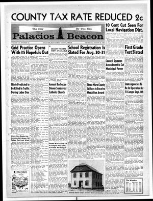 Primary view of object titled 'Palacios Beacon (Palacios, Tex.), Vol. 54, No. 34, Ed. 1 Thursday, August 23, 1962'.