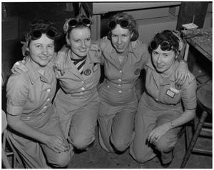 Primary view of object titled '[Four Female Employees]'.
