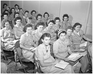 Primary view of object titled '[Training Girls in Classroom]'.