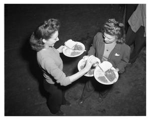 Primary view of object titled '[Female Workers with Lunches]'.