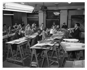 Primary view of object titled '[H.H. Katz Lectures to a Class of Neophyte Draftsmen]'.