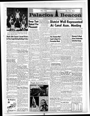 Primary view of object titled 'Palacios Beacon (Palacios, Tex.), Vol. 56, No. 40, Ed. 1 Thursday, October 3, 1963'.