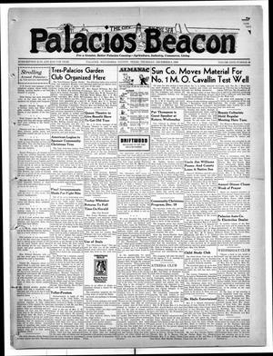 Primary view of object titled 'Palacios Beacon (Palacios, Tex.), Vol. 31, No. 49, Ed. 1 Thursday, December 8, 1938'.