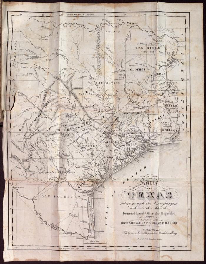 Austin Texas Karte.Karte Von Texas Entworfen Nach Den Vermessungen Welche In Den Acten