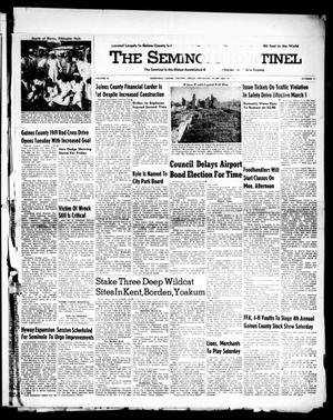 Primary view of object titled 'The Seminole Sentinel (Seminole, Tex.), Vol. 42, No. 12, Ed. 1 Thursday, February 24, 1949'.