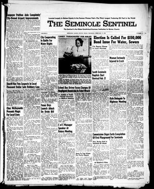 Primary view of object titled 'The Seminole Sentinel (Seminole, Tex.), Vol. 42, No. 11, Ed. 1 Thursday, February 17, 1949'.