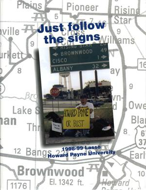 Primary view of object titled 'The Lasso, Yearbook of Howard Payne University, 1998-99'.