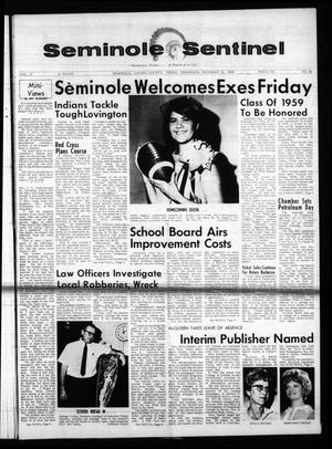 Primary view of object titled 'Seminole Sentinel (Seminole, Tex.), Vol. 61, No. 48, Ed. 1 Thursday, October 10, 1968'.