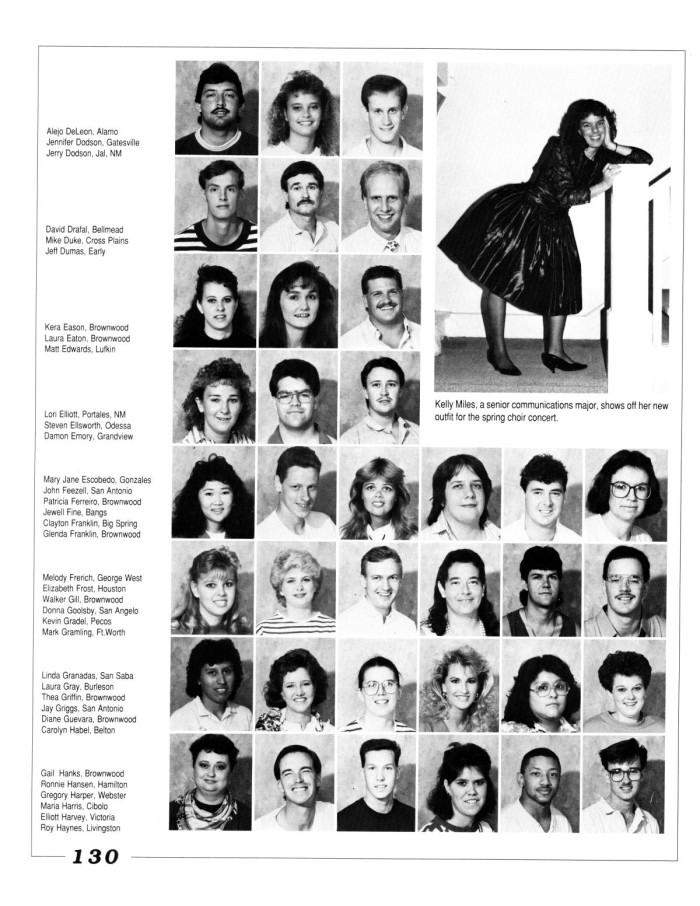 the lasso yearbook of howard payne university 1990 page