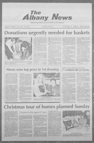 Primary view of object titled 'The Albany News (Albany, Tex.), Vol. 118, No. 27, Ed. 1 Thursday, December 9, 1993'.