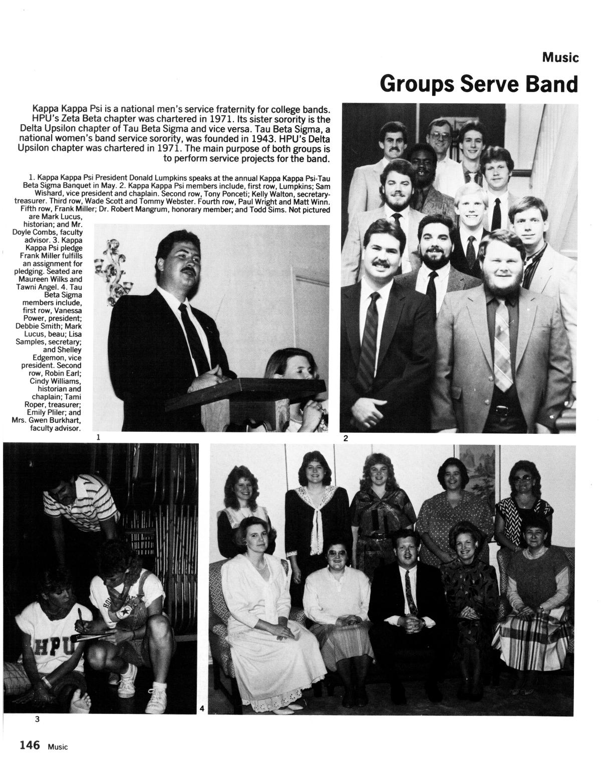 The Lasso, Yearbook of Howard Payne University, 1987 - Page