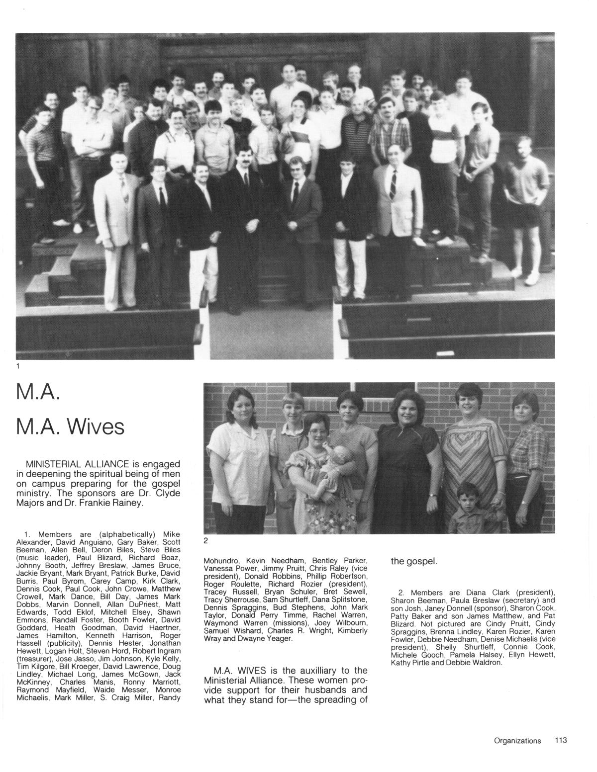 The Lasso, Yearbook of Howard Payne University, 1986 - Page 113