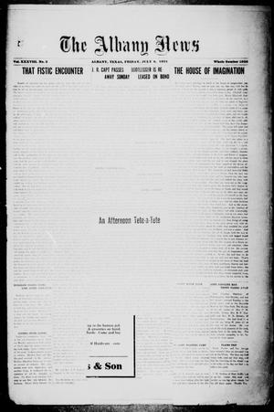 Primary view of The Albany News (Albany, Tex.), Vol. 38, No. 3, Ed. 1 Friday, July 8, 1921