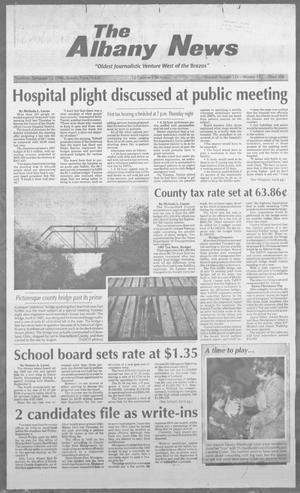 Primary view of object titled 'The Albany News (Albany, Tex.), Vol. 121, No. 15, Ed. 1 Thursday, September 12, 1996'.