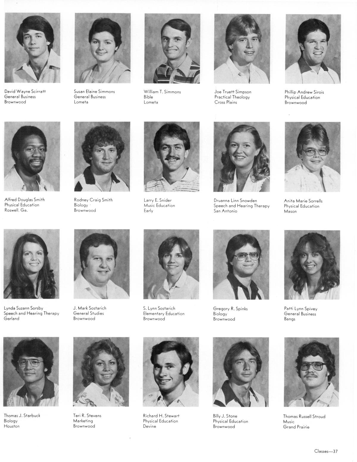 The Lasso, Yearbook of Howard Payne University, 1981                                                                                                      37