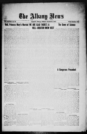 Primary view of object titled 'The Albany News (Albany, Tex.), Vol. 38, No. 36, Ed. 1 Friday, March 3, 1922'.