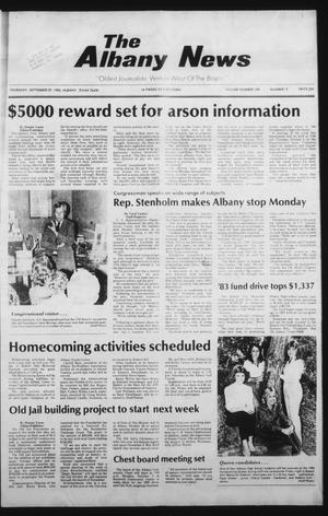 Primary view of object titled 'The Albany News (Albany, Tex.), Vol. 108, No. 15, Ed. 1 Thursday, September 29, 1983'.