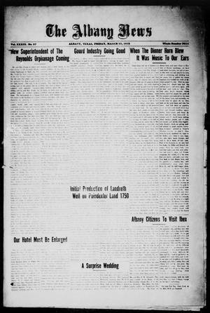 Primary view of object titled 'The Albany News (Albany, Tex.), Vol. 39, No. 37, Ed. 1 Friday, March 23, 1923'.
