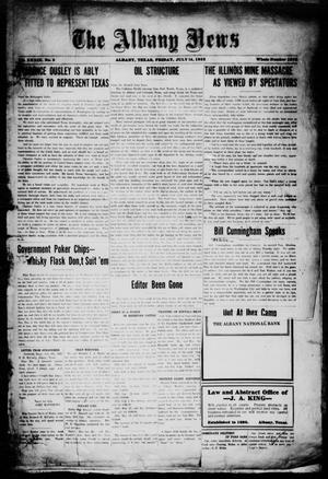 Primary view of object titled 'The Albany News (Albany, Tex.), Vol. 39, No. 2, Ed. 1 Friday, July 14, 1922'.