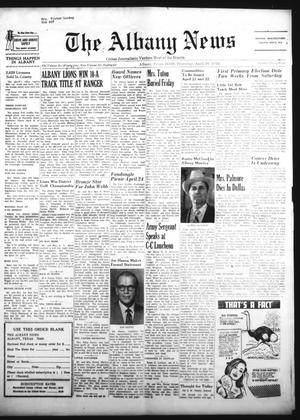 Primary view of object titled 'The Albany News (Albany, Tex.), Vol. 86, No. 34, Ed. 1 Thursday, April 16, 1970'.