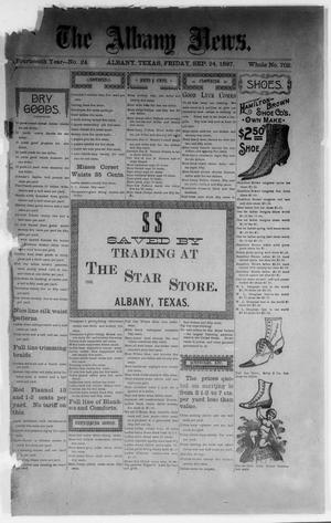 Primary view of object titled 'The Albany News. (Albany, Tex.), Vol. 14, No. 24, Ed. 1 Friday, September 24, 1897'.